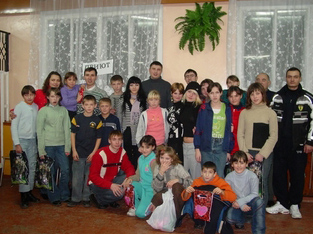Ukrainian orphans travel to USA